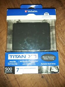 Verbatim Titan XS 500gb Portable Hard Drive Factory Sealed