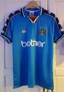 Manchester City Kappa 1997 1998 1999 Home Shirt Medium