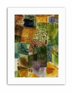 PAUL KLEE REMEMBRANCE OF A GARDEN 1914 Old Master Canvas art Prints