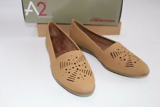 A2 Aerosoles Tan Shoes size 10 NEW Trend Right Flats Cut Outs $69.99