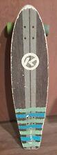 New listing Kryptonics skateboard longboard 36 Inches Wave Blue Green Wheels