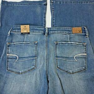 American Eagle Jeans Sz 14 A Line Super Stretch Bell Bottom AE New Retro