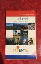 CROATIA ROAD and TOURIST MAP by the CROATIAN NATIONAL TOURIST BOARD