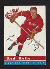 1954 Topps #5 Red Kelly, HOF, Vintage Detroit Red Wings NHL Hockey 1954-55