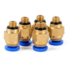 """5x PC4-M6 Pneumatic 4MM Tube x 1/8"""" NPT Push In To Connect One Touch Fitting"""