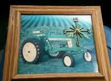 Vintage RARE JOHN DEERE Wall Clock with Farm Scene Tractor