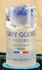 GREY GOOSE VODKA  GLASS MADE FROM ORIGINAL .750ml BOTTLE