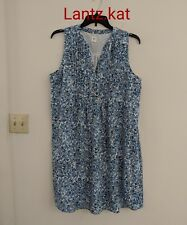 Gap Blue And White Floral Maternity Dress size XL