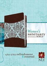 Women's Sanctuary Devotional Bible NLT LeatherLike & Canvas. Tyndale. Brand New