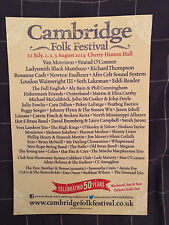 CAMBRIDGE FOLK FESTIVAL 2014 - A4 1 PAGE PICTURE ADVERT - CLIPPING/CUTTING