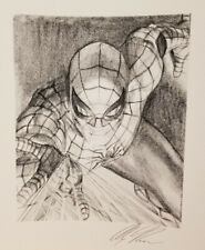 Alex Ross Signed Giclee of Sketch-Spider-Man Visions