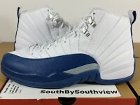 Nike Air Jordan 12 French Blue Size 9 With Receipt XII Retro White 130690-113 DS