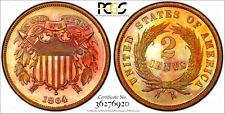 1864 2c PCGS PR65RB Large Motto Two Cent Piece (Irreplaceable Coloration!)