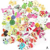 100Pcs Baby Kids Mixed Resin Pentagram Star Button H6B6 13mm Holes W3X2