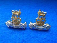 Royal Glos Berks /& Wilts Officers Silver//Gilt//Enamel Plated Collar Badges
