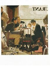"NORMAN ROCKWELL print: ""SAYING GRACE"" 11"" x 15"" Christian Religion Religious"