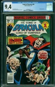 Tomb of Dracula #58 (Marvel, 7/77) CGC 9.4 NM (BLADE cover & appearance)