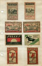 CIRCA 1900 MATCH BOX LABELS THE STAG SOLLYS SPORT STORK FINLAND ESTHONIA NORWAY