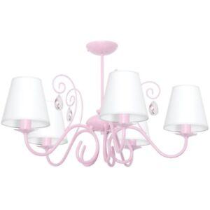 LAURA 5 LIGHT PINK / HELLROSA Hängelampe Deckenleuchte Deckenlampe Kronleuchter