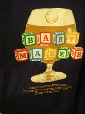 Triple C Brewing Co BABY MAKER Double IPA Beer T Shirt 2XL Blue Charlotte NC