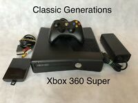 XBOX 360 S CONSOLE 250GB Black SLIM version System Complete 10 Free Games