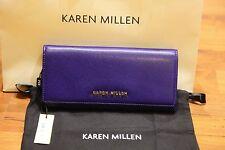 Karen Millen Saffiano Blue Leather Purse BNWT RRP£60