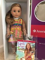 American Girl Lea Clark Doll New Book Messenger Bag Compass Necklace