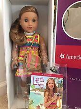 American Girl Lea Clark Doll New  Book  Messenger Bag & Compass Necklace NIB
