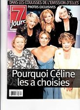CELINE DION  RARE 7 JOURS MAGAZINE VOLUME 13 AUGUST 2002