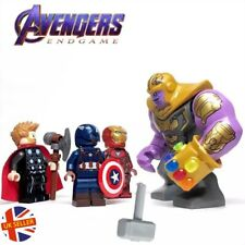 Thanos Figure Set Iron Man Thor Cap Lego Fit Avengers End Game Marvel UK Seller