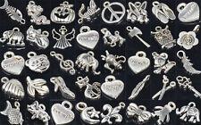 Wholesale Lots Mixed Tibetan Silver Pendant Bracelet Necklace Charm Beads 100pcs