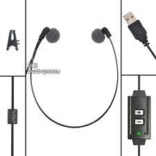 ECS WHUCUSB-A Antimicrobial WordHear-O USB Under-chin Transcription Headset