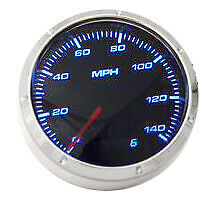 Smoke Lens 3 1/8'' Electrical 140mph Speedometer With LED Lights Hot Rod Racing