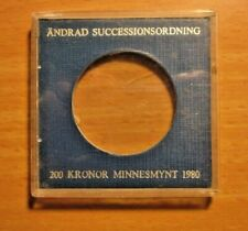 Sweden used empty coin case for 200 Kronor 1980