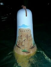 """Mesa Verde Ceramic Bell Hand painted 7"""" tall"""