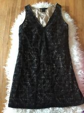 Marc by Marc Jacobs Fancy black lace dress sleeveless v-neck Nwot Nude Women's M