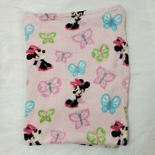 Disney Baby Blanket Minnie Mouse Butterfly Blanket Pink Fleece Security B41