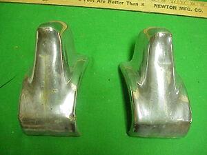 1956 56 Chrysler Imperial OEM Chrome Front Bumper Guards Bumperettes