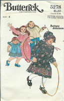B 5278 sewing pattern DRESS TOP BONNET sew Betsey Johnson RARE old-fashioned sz4