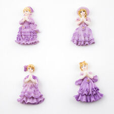 24 Miniature Doll Figurines Sweet 16 Party Favors Purple Quinceanera Doll Favors