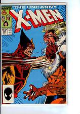 MARVEL:  X-MEN#222  SUPER  HIGH GRADE  WOLVERINE VS SABRE TOOTH