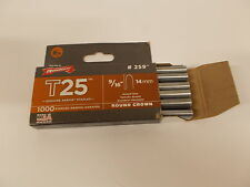 "Arrow T25 Round Crown Staples 9/16"" #259 x 1000"