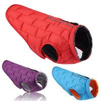 Waterproof Warm Autumn Winter Dog Pet Coats Clothes Padded Vest Jacket Large XL