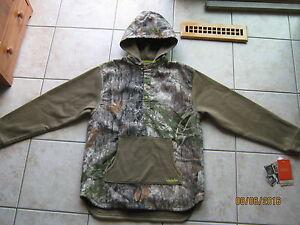 Cabelas Youth Boys Camo Hunting Hoodie Sweatshirt 2XL XXL 20 Mens Small Medium