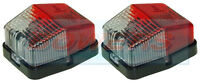 2x JOKON SPL115 RED WHITE CLEAR SQUARE SIDE MARKER LAMPS LIGHT CARAVAN MOTORHOME