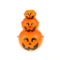 Halloween Party Props Plastic Pumpkin Bucket Trick Cosplay Festivals Decor KHGU
