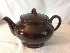 Vintage ROYAL CANADIAN ART POTTERY Hamilton Canada, Royal Dripless Brown Teapot