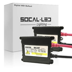 SOCAL-LED 2x Digital HID Ballast Replacement 35W DC Slim Design for Lexus Acura