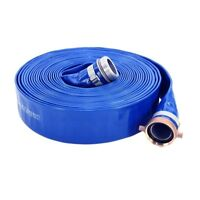 "PVC Discharge Hose, Blue, 2"" MaleXFemale NPSM, 65 psi Max Press, 50',2""ID"