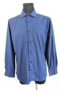 Burton Dark Blue Long Sleeve Button-Up Collared Men Shirt Size 41/42 EU L